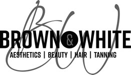 Brown and White - Aesthetics Beauty Hair Tanning Covid 19 Testing
